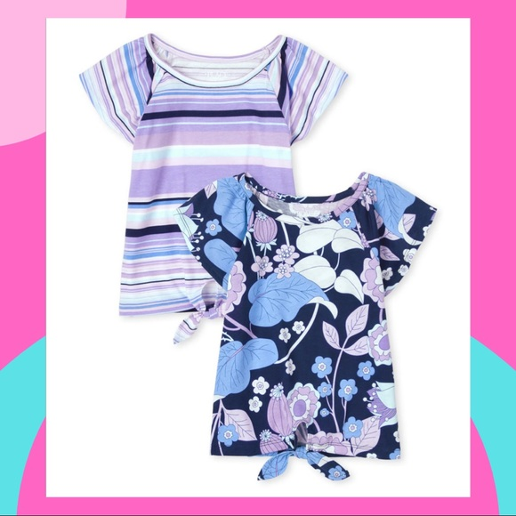 The Children's Place Tie Front Top 2-Pack NWT Size 5